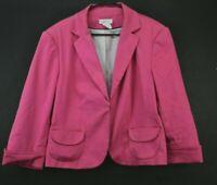 Worthington Stretch Women's 16 3/4 Sleeve Dress Suit Career Blazer Jacket Pink