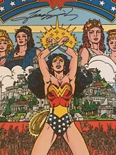 Hand Signed George Perez DC Comics Wonder Woman #1 Cover Wall Plaque
