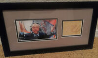 Dick Vitale autographed resturant receipt, custom framed, Awesome Baby