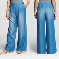 NEW Women's Tencel Wide Leg Denim Pant by Merona, Free 3 Day Shipping
