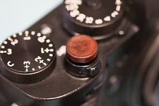 African Red Sandalwood Soft Release Button for Fujifilm and Leica (Large concav)