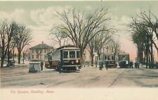 READING MA - The Square showing Trolleys - udb (pre 1908)