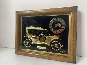 Vintage Rhythm Quartz Rolls Royce Table Mantel Clock 1910 Antique Car Works