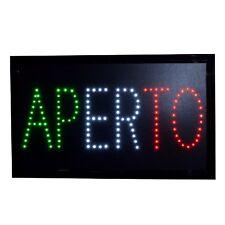 """LED Schild """" APERTO """" Leuchtreklame Werbung Leuchtschild Sign Display s32"""