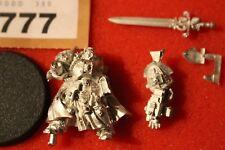 Warhammer 40k Gris Caballeros hermano capitán Avram STERN Nuevo Figura de Metal fuera de imprenta GW