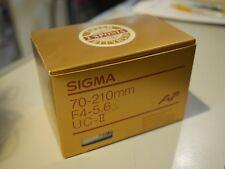 Sigma 70-210mm f/4-5.6  UC-II For Nikon AF Lens