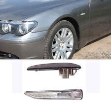 For BMW E65 E66 745i 750i 760i White Side Fender Repeater Light Turn Signal Lamp