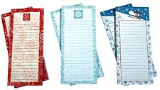 Magnetic Memo Note Pads, 2 each of 3 Let it Snow Designs - 6 Pads Total (Set 6)