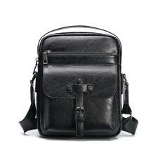 Men's Leather Crossbody Messenger Shoulder Bags Satchel Small Handbag Tablet Bag