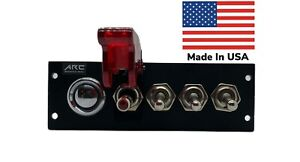 Switch Panel 12V LED Safety Race Toggle, Car Push Button Switch, 3 Aux.Toggle