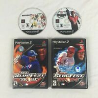 PlayStation 2 PS2 lot 4 Madden 10 MLB SlugFest 2003 2004 NASCAR Thunder tested