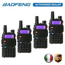DHL 4x BaoFeng UV-5R 136-174/400-520MHz V/U Dual Band Walkie Talkie Transceptor