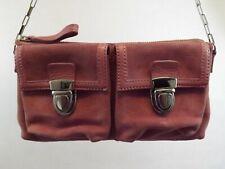 BANANA REPUBLIC CLUTCH SATCHEL Bag Handbag Purse PINK LEATHER SUEDE SMALL