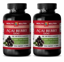 Acai berry pure extract ACAI BERRY 1200 SUPER ANTIOXIDANT Immune system 2Bottles
