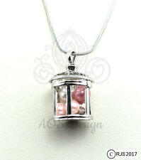 Pick A Pearl Cage Silver Plated Lantern Fairy Tink Star Light Locket Charm Chain