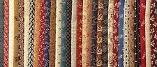 30 Reproduction Fabric Fat Quarters Civil War 1800's No Dups 100% Cotton