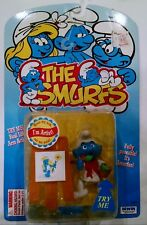 Irwin The Smurfs 'I'm Artist' Fully Poseable Factory Sealed 1996