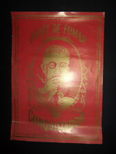Antique, big and very Rare Conquistador rolling Paper poster