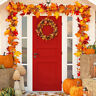 Artificial Maple Leaves Garland Hanging Plant 170cm Autumn Fall Party Decor