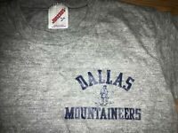 VTG 80S 90S YOUTH LARGE ADULT S JERZEES RAYON TRIBLEND DALLAS MOUNTAINEERS SHIRT
