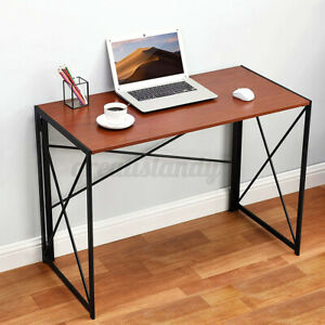 Folding Computer Desk Laptop Corner Gaming Study Table Office Home Console Table