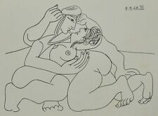 Pablo Picasso Ltd Ed Erotic Lithograph 28x20 Playmen 1968 Erotische Lithographie