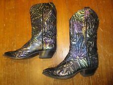 Tony Lama Women's Tall Buckaroo Boots Size 7 Cowboy Western Beautiful EUC