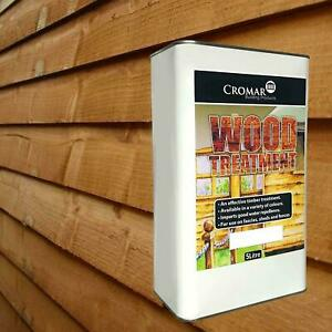 CROMAR SOLVENT-BASED EXTERNAL TIMBER, WOOD, FENCE SHED TREATMENT BROWN 25 Litre