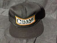2 NEW Vintage CRANE CAMS Patch Snapback Hat RACING NASCAR NHRA Black DEFECT READ
