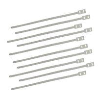 Lambretta Vespa Wiring Loom Cable Ties Aluminium Strap 10 Units GEc