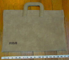 Vintage RCA SONY Tote Briefcase Collectible Radio MUSIC Advertising VOXX