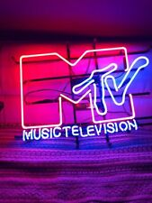 "Music Television Neon Sign 20""x16"" Beer Light Lamp Bar Garage Display Windows"