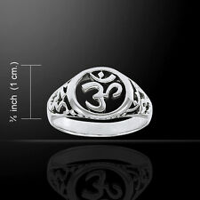 Om .925 Sterling Silver Ring by Peter Stone Size 7