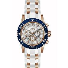 INVICTA MEN'S PRO DIVER WHITE POLYURETHANE BAND STEEL CASE QUARTZ WATCH 23710