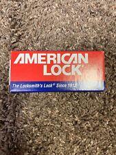 """American Lock Padlock 5200 Series Solid Steel 1-3/4"""" Body Kaa"""