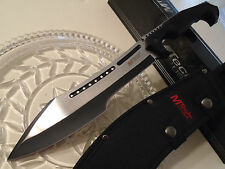 Mtech 2 Tone Tactical Machete Bowie Hunter Knife 4mm Full Tang 20-72 Black Pakka