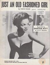Eartha kitt lyrics old fashioned girl dresses