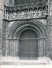 ANGLETERRE c. 1958 -Sculptures Portail Central Cathédrale  Lincoln - Div 10481