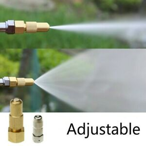 Mist Nozzle Garden Adjustable Brass Spray Sprinkler Connector Atomizing New