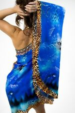 Women's Fashion Short Kaftan Dress Beach Crystal Embellishment Global Diva Style