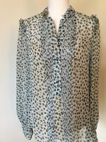 Diane von Furstenberg Silk Long Sleeve  Blouse w/ Camisole 2 Pc Size 10