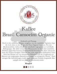 Brazil Camocim Organic Kaffee 1kg