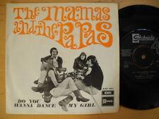 "MAMAS AND THE PAPAS Do You Wanna Dance / My Girl 45 7"" single 1969 sweden EX"