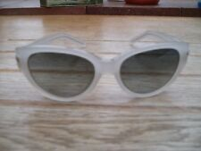 Gianfranco Ferre cats eye sunglasses new unused white translucent frame