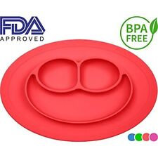 Silicone Kids Placemat, Strong Table Suction, Fits Most Highchair Trays, Safe,