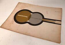 Rare Original Vintage 1960 Martin Guitar Retail Catalogue Catalog Scarce