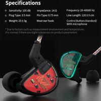 KZ AS10 5BA Balance Armature Driver HiFi Wired Earphones High Resolution Earbuds