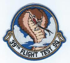 39th FLIGHT TEST SQUADRON(BLACK LETTERS) patch