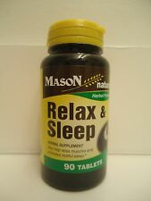 90 TABLETS RELAX & SLEEP VALERIAN ROOT PASSION FLOWER  CELERY CATNIP HOPS ORANGE