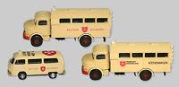 Malteser Set mit Großraumkrankenwagen, Küchenwagen und VW T2 Krankenwagen